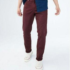 Aeropostale Slim Straight Color Wash Stretch Jeans